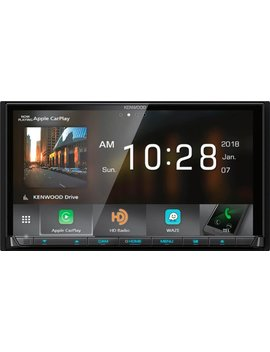 "7""   Android Auto/Apple® Car Play™   Built In Bluetooth   In Dash Cd/Dvd/Dm Receiver   Black by Kenwood"