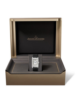Reverso Classic Duetto 24.4mm Medium Stainless Steel, Alligator And Diamond Watch by Jaeger Le Coultre