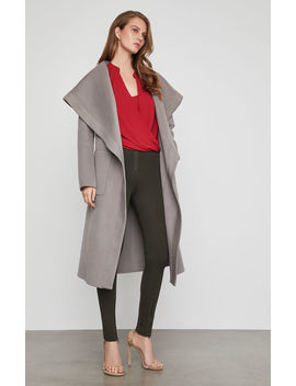 Amber Hooded Wrap Coat by Bcbgmaxazria