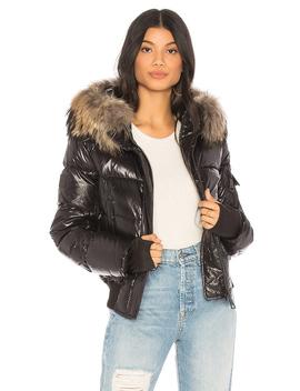 Skyler Puffer Jacket With Raccoon Fur by Sam.