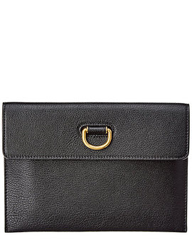 Burberry D Ring Leather Pouch by Burberry