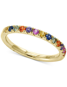 Watercolors By Effy® Multi Sapphire Band (5/8 Ct. T.W.) In 14k Gold by Effy Collection