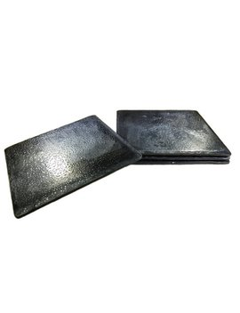 Forged Iron Square Coasters   Set Of 4 by Etsy