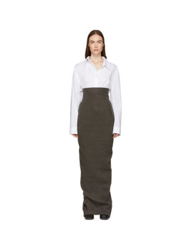 Grey Dirt Pillar Skirt by Rick Owens