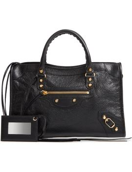 Small Arena City Lambskin Leather Tote by Balenciaga