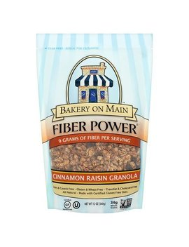 Bakery On Main Gluten Free Fiber Power Granola, Cinnamon Raisin, 12 Ounce Bag (3 Count) by Bakery On Main