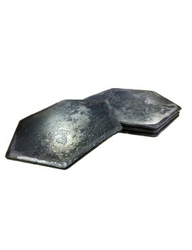 Forged Iron Hexagon Coasters   Set Of 4 by Etsy