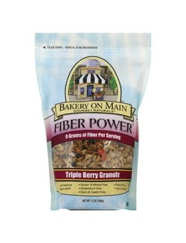 Bakery On Main Gluten Free Fiber Power Granola, Triple Berry, 12 Ounce Bag (3 Count) by Bakery On Main