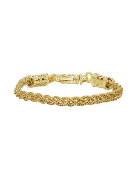 Gold Small Braided Bracelet by Emanuele Bicocchi