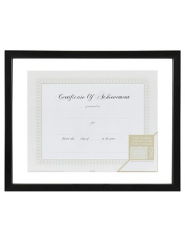14x11 Black Floating Document Frame   Gallery Solutions by Gallery Solutions