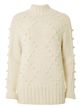 Cream Funnel Bobble Jumper by Dorothy Perkins