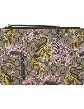 Bengal Tiger Print Pouch Clutch by Gucci