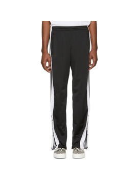 Black Snap Lounge Pants by Adidas Originals