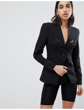 Asos Design Premium Cut Away Bustier Blazer by Asos Design