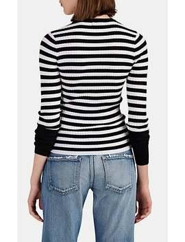 Striped Merino Wool Rib Knit Sweater by Atm Anthony Thomas Melillo