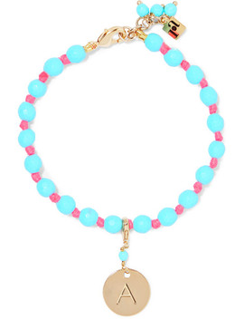 Segno Alphabet Gold Tone Beaded Bracelet by Rosantica