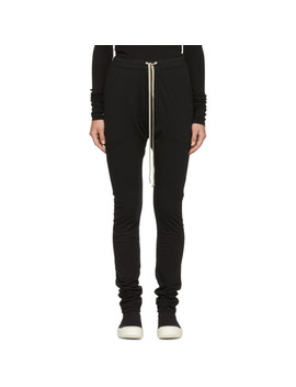 Black Double Leggings Lounge Pants by Rick Owens Drkshdw
