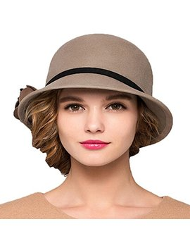 Maitose Trade; Women's Bow Wool Felt Bucket Hat by Maitose
