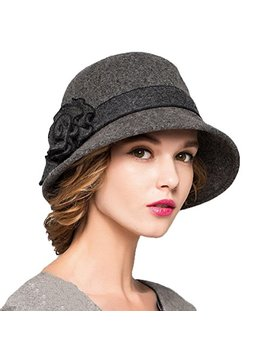 Maitose Trade; Women's Wool Felt Flowers Church Bowler Hats by Maitose