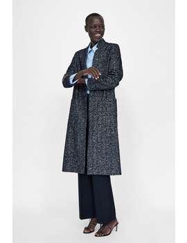 Herringbone Inverted Lapel Coat  Wool Coats Woman by Zara