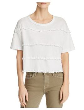 The Claudia Ruffled Tee by Current/Elliott