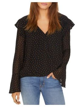 Cori Dotted Wrap Front Top by Sanctuary