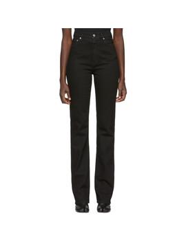 Black Femme Hi Bootcut Jeans by Helmut Lang