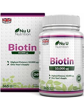 Biotin Hair Growth Supplement | 365 Tablets (Full Year Supply) | Biotin 10,000 Mcg By Nu U Nutrition by Nu U Nutrition