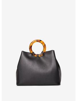Black Tortoiseshell Handle Mini Tote Bag by Dorothy Perkins