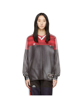 Pink & Black Photocopy Long Sleeve T Shirt by Adidas Originals By Alexander Wang