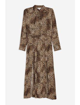 Tall Animal Midi Shirt Dress by Topshop