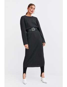 Textured Weave Dress With Belt  View All Dresses Trf by Zara