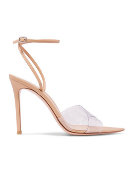 Stark 105 Leather And Pvc Sandals by Gianvito Rossi