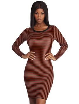 Stripe Game On Point Dress by Windsor