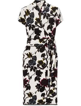 Nicole Floral Print Silk Crepe Wrap Dress by Diane Von Furstenberg