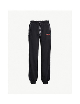 Side Stripe Cotton Jersey And Satin Track Pants by Adidas X Alexander Wang