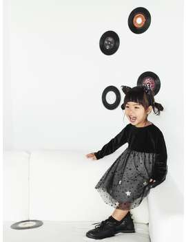 Contrast Dress With Stars  Dresses And Jumpsuitsbaby Girl by Zara