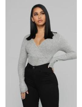 Moving Forward Top   Heather Grey by Fashion Nova