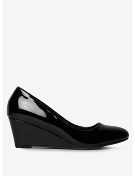 Black Pu 'Dream' Court Shoes by Dorothy Perkins