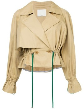 Cropped Trench Coat by Tibi