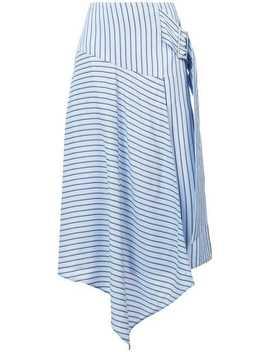 Striped Asymmetric Skirt by Tibi
