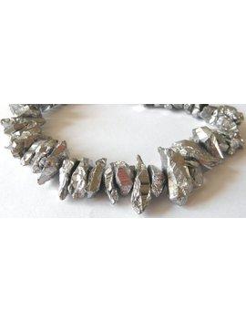 Edelstein Bergkristall Große Splitter Silber, Kettenstrang by Etsy