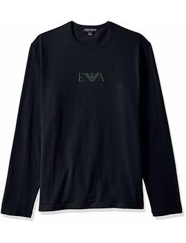 Emporio Armani Men's Stretch Cotton  L/S Crew T Shirt by Emporio+Armani