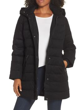 Celeste Genuine Shearling Trim Down Coat by Ugg®