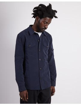 Beacon Askern Overshirt Navy by The Idle Man