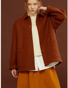 [Unisex] Wool Shirts Jacket Camel by Homfem