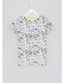 Kids Skull Print T Shirt (4 13yrs) by Matalan