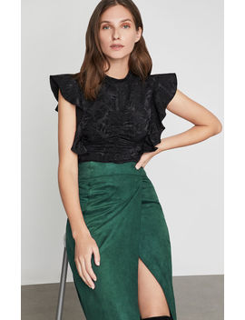 Abstract Leaf Shirred Top by Bcbgmaxazria