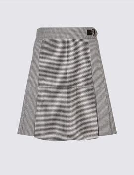Checked Kilt Mini Skirt by Standard Tracked: