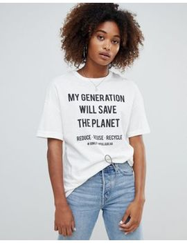 Pull&Bear My Generation Slogan Eco Friendly T Shirt by Pull&Bear